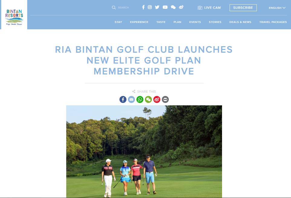About Us | Awards & Accolades - Ria Bintan Golf Club